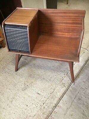 Vintage Retro Mid Century Telephone Seat Table Tambour Roller Door Bench 18/3/G