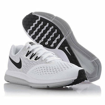 4d2943ed634 Nike Women s Zoom Winflo 4 Running Shoe 898485 100 white light grey Size 10