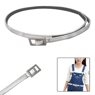 10mm Wide Thin Shiny Silver Kids PU Leather Waist Belt Girls Stylish Waistband