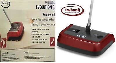 EWBANK - Evolution 3 Carpet Sweeper Floor Cordless Sweep Manual Silent Hard Evo3