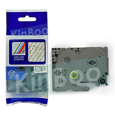 1 Pack Tape Label Compatible for Brother P-Touch TZ TZe 125 White on Clear 9mm