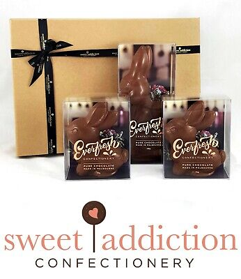 Milk Chocolate Easter Bunny Gift Hamper Box - Belgian Couverture Chocolate