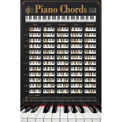 Piano Chords - Music  Educational - Poster #0H