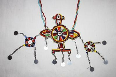 African Maasai Masai Beaded Ethnic Tribal Necklace Pendant Jewelry- Kenya #05