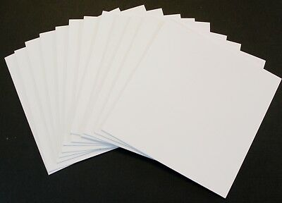 "Blank White 13cm / 5"" Square Cards x12 and Envelopes x12 Cardmaking 210gsm -24pk"