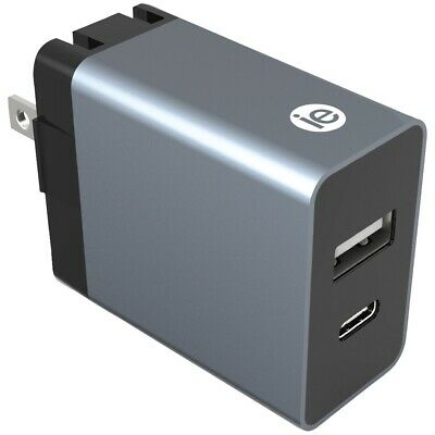 iEssentials(R) IEN-AC31A1C-WT 3.4-Amp Dual-USB Wall Charger