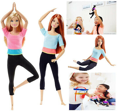 Barbie Gymnastic Doll Endless Moves Fashion Pink Top Flexibility Movement Kids