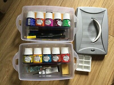 Pebeo Water Based Glass Paints In Box With Extras Glass Paint Set