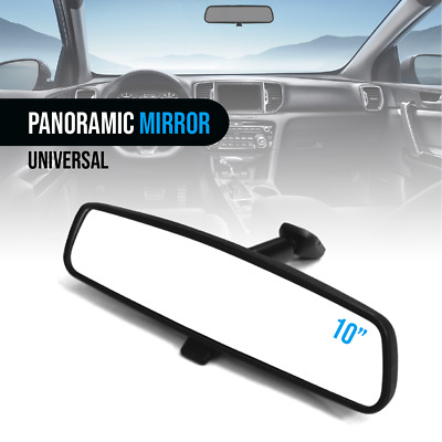 """Black Mirror 10"""" Day / Night Interior Inside Rearview Assembly Flat Type Mount"""