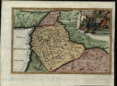 Syria After Alexander the Great Arabia 1738 antique engraved hand color map