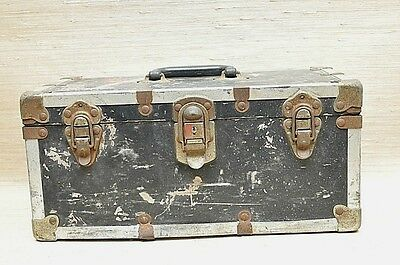 Vintage Wood Stash Box Chest Storage Trunk Carpenters tool box Industrial Rustic