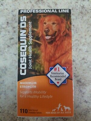 COSEQUIN DS MAX STRENGTH JOINT HEALTH SUPPLEMENT ALL DOGS  110 TABLETS Exp 10/20