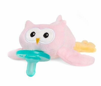 NEW - Wubbanub - Pink Owl Pacifier Infant Soothie Pacifier - FREE SHIPPING