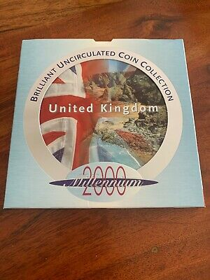 Royal Mint United Kingdom 2000 Brilliant Uncirculated Coin Collection Set
