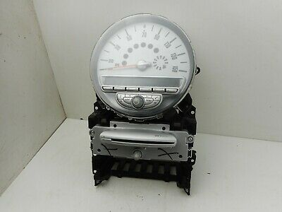 2008 Bmw Mini Cooper R56 Speedometer Cd Radio Player With Display Screen 3452681