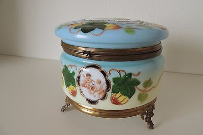 Antik Biedermeier Zuckersdose /Konfektdose /ANTIQUE 13,5 cm Glass Box