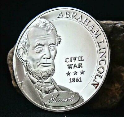 1 x Abraham Lincoln, USA, Commander in Chief, President,Civil War 1861 NEW Coin