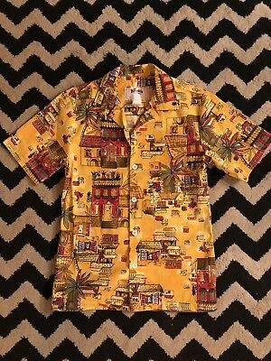 Vintage Knotts Berry Farm Spanish/ Hawaiian Style Button Down Employee Shirt
