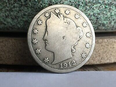"1912-D Liberty ""V"" Nickel, Tough Date, Nice Coin"