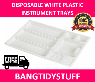 Disposable White Plastic Instrument Trays Preformed 280 X 180Mm Dental Or Beauty