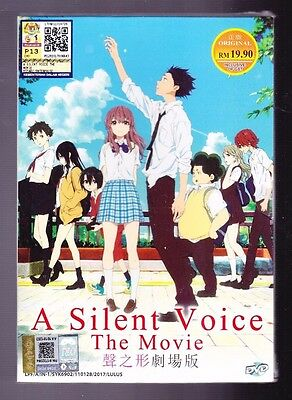 *new* A Silent Voice The Movie*english Dubbed*anime Dvd Lot*us Seller*
