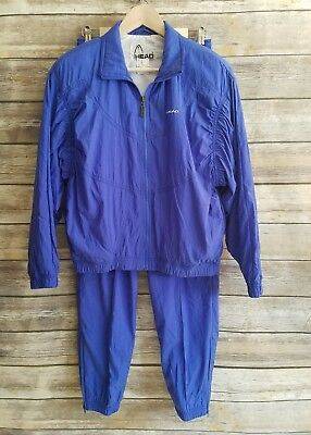 Vintage Head Track Suit Wind Breaker Jacket Pants Athletic Sportswear Retro Sz 8