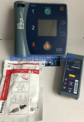 Philips HeartStart FR2+ AED Laerdal DEFIB GOOD Battery, Pads Pass Check.