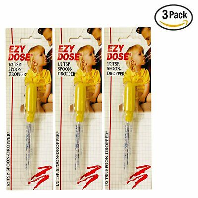 EZY DOSE 1/2 Tsp Spoon Dropper -- Pack Of 3
