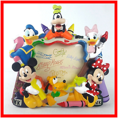 Disney 3D Character Photo Picture Frame Stand Mickey Minnie Daisy Goofy