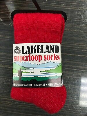 lakeland superloop walking socks 70% new worsted wool size 42-44