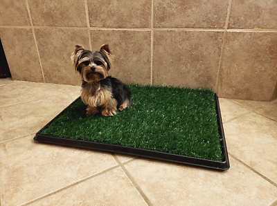 Puppy Potty Training Pad Pet Dog Grass Mat Patch House Indoor Outdoor Tray Turf