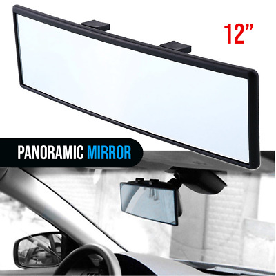 Universal 300mm Panoramic Curve Convex Interior Clip On Rear View Mirror Hot