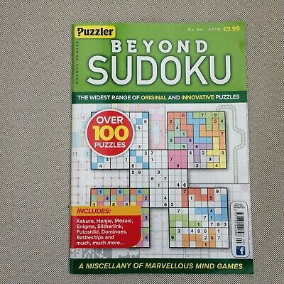 Puzzler Beyond Sudoku Issue 90 2018 Over 100 Puzzles New Freepost