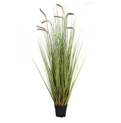 Blooming Artificial 120cm (H) Foxtail Grass Plant Realistic Spiky Green Grass