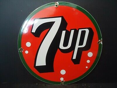 Vintage 7 Up Porcelain Advertising Sign Soda