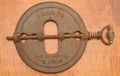 """Antique The Adams Co.established 1883 , Dubuque Ia.  8"""" Steel Spindle"""