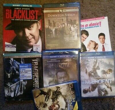 7 X Blu-Ray dvd lot blacklist maggie insurgent transformers downton abbey season