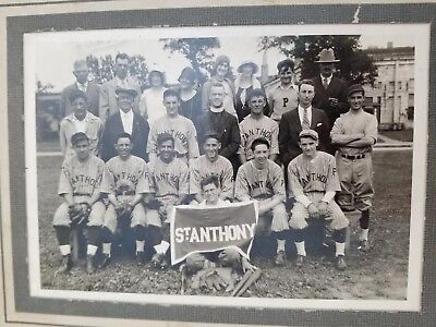 Antique Early Baseball Team Photograph Original Matted Picture 5x7 Photo Vintage
