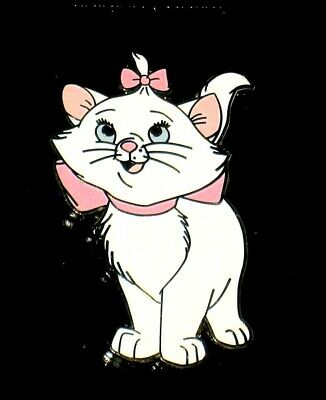 Rare Retired New Disney Pin ✿ Aristocats Kitten Marie Wearing Pink Bows Cat 2001
