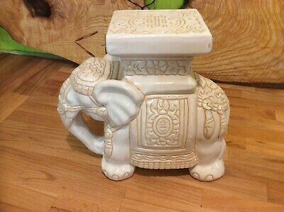 Vintage Asian Elephant Plant Stand 10.25 inches Tall.