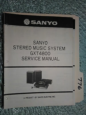 Sanyo gxt-4800 service manual original repair stereo turntable record player
