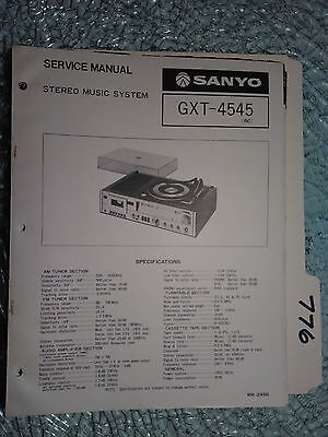 Sanyo gxt-4545 service manual original repair stereo turntable record player