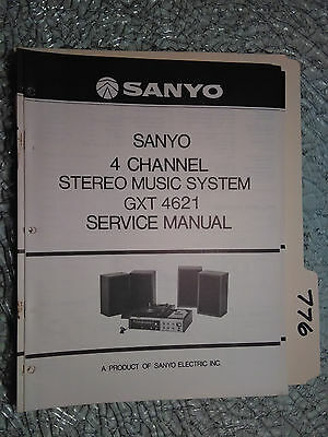 Sanyo gxt-4621 service manual original repair stereo turntable record player