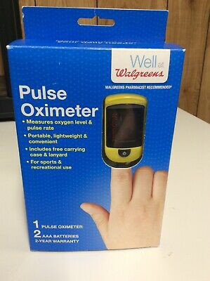 NEW Walgreens Pulse Oximeter C20 Includes Carrying Case & Lanyard Damaged Box