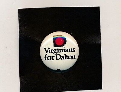 "1977 John Dalton for governor 1"" litho Virginia VA campaign button"