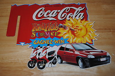 coca cola plv carton rayon magasin coca hot summer 1995