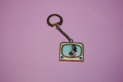 porte clé vintage ancien TV pin up