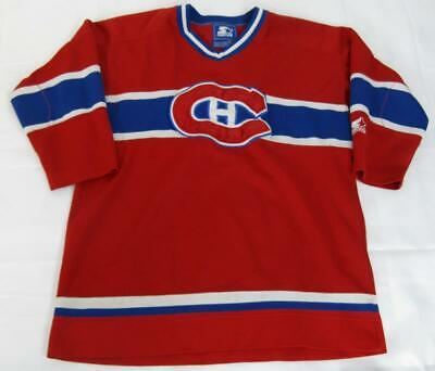 Montreal Canadiens SEWN NHL Hockey STARTER Jersey Youth Boys Large XL L/XL 14-16