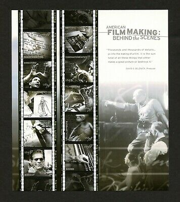 American Film Making Behind the Scenes 37 Cent Stamps US Sheet  Free Shipping