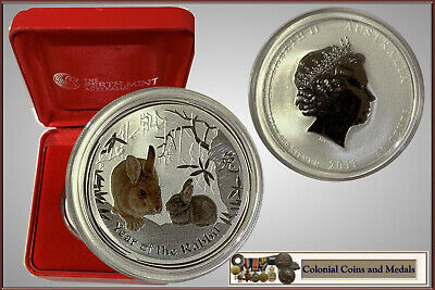 2011 Year of the Rabbit 50 Cent. 1/2oz. Coloured Silver Coin